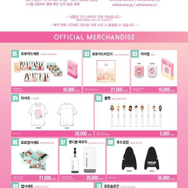 TWICE Twiceland Concert Official Merchandise/Goods, K-Wave on Carousell