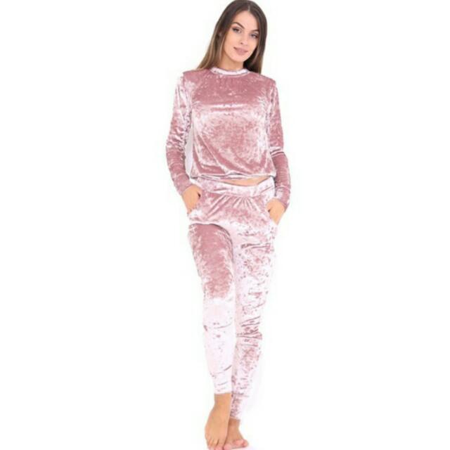 Velvet Sports Wear Set
