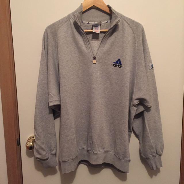 Vintage Adidas 1/4 Half Zip Sweatshirt Jumper