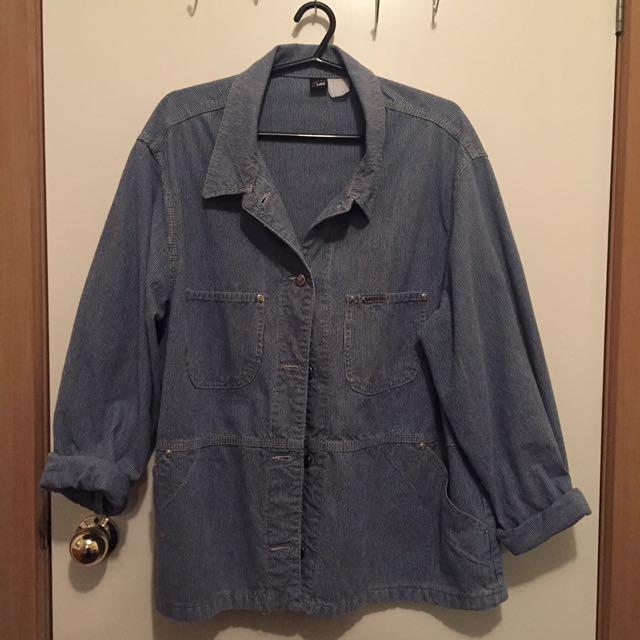 Vintage Lee Jeans Denim Jacket Workers Coat