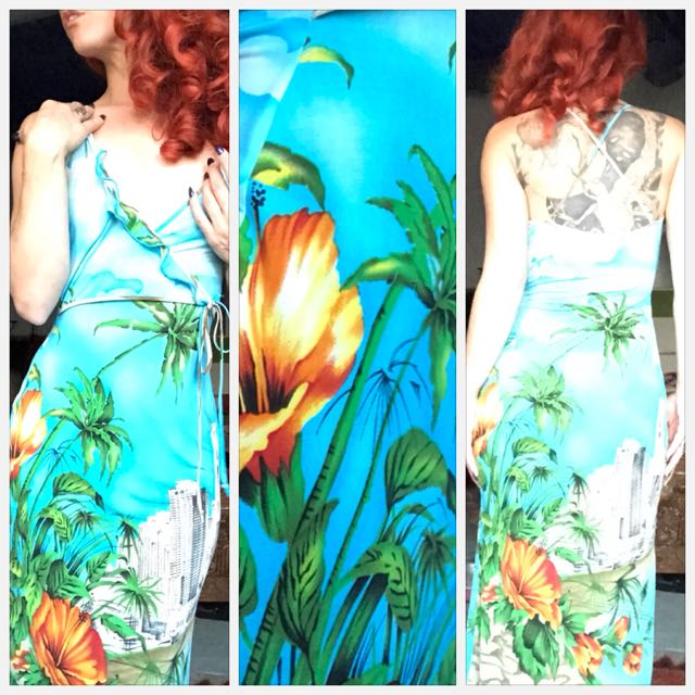 Vintage Lisa Ho Summer Wrap Dress