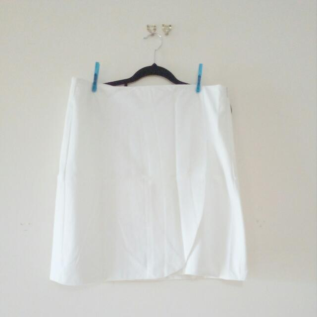White Corporate Skirt - Size 12