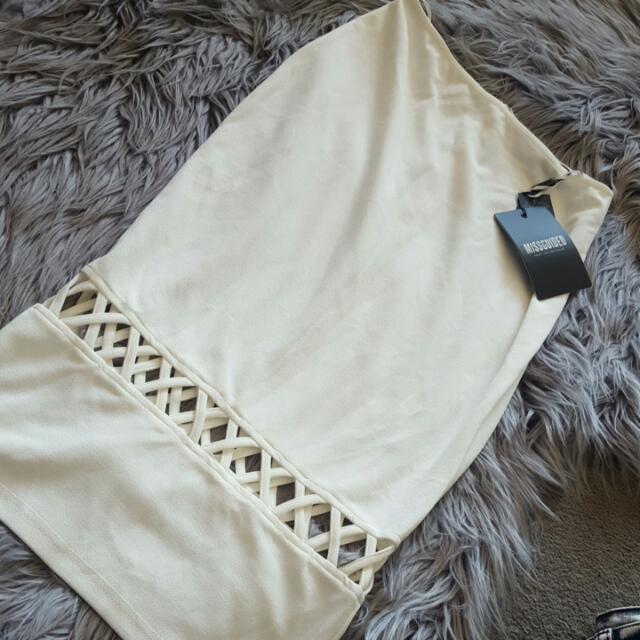 White Mid Length Skirt Size 8