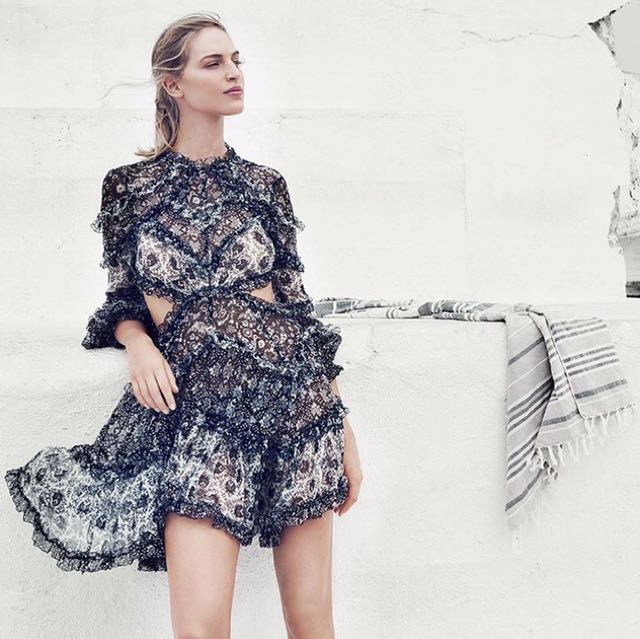 ZIMMERMANN Divinity Ruffle Dress- Size 0