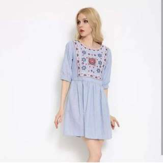!NEW! Flower Embroidery Dress