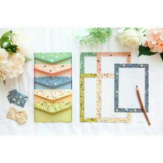 KOREAN FLORAL LETTER SET