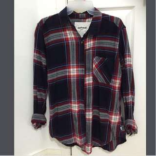 Plaid Garage Oversize Boyfriend Flannel