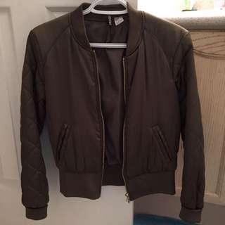 H&M Olive Green Bomber Jacket
