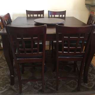 Square Shaped Dining Table With 6 Chairs
