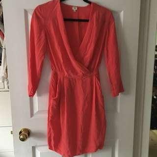 Aritzia Silk Dress