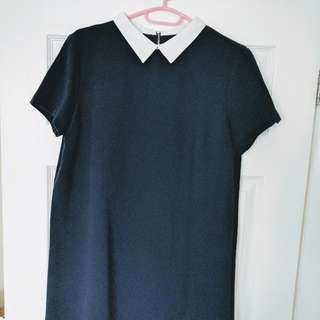 Zara navy Shift Dress