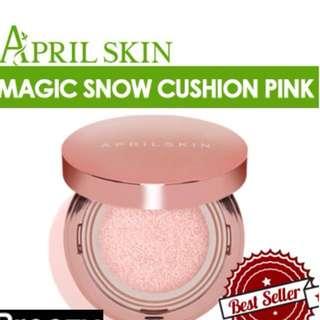 APRILSKIN MAGIC SNOW CUSHION FOUNDATION PINK