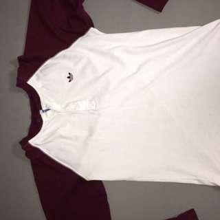 Maroon Long Sleeve Adidas Shirt
