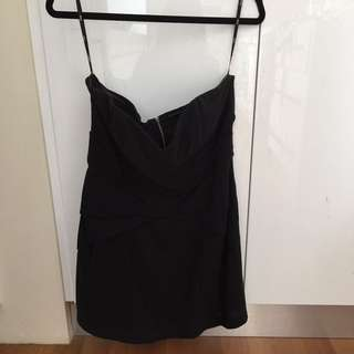 Sportsgirl Black Strapless Mini Dress
