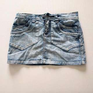 💰 Denim Mini Skirt