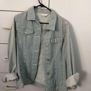 Oversized Denim Stripped Jacket