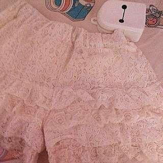 Crochet Short (White)