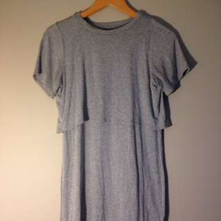 Topshop Petite - Cropped T-shirt Dress In One
