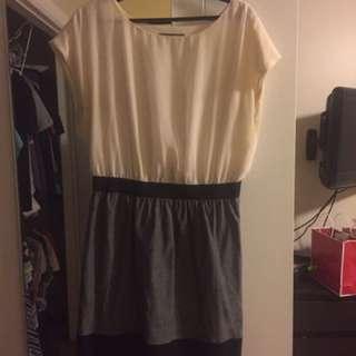 White Grey Dress