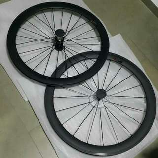 Stock Available For 50mm Clincher Ultra Light 700C 24 38 50mm depth 23mm width Clincher Racing Bicycle Carbon Wheels Road Bike   carbon Fiber Wheelset (PO)