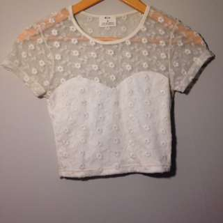 Detailed Lace Crop Top