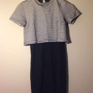 Cropped T-shirt Dress