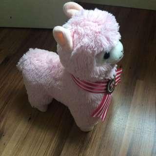 Kawaii Pink Alpacasso Plush
