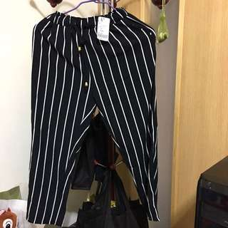 Sweet條紋寬褲