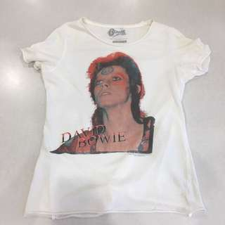 David Bowie Ladies T-shirt Size Small