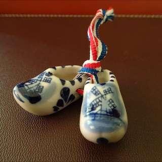 Delft Holland Blue Dutch Clogs Ceramic Souvenir Collectible Miniature