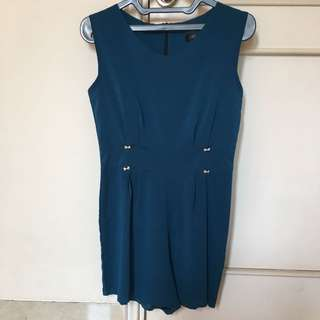 Sleeveless Blue Jumpsuit