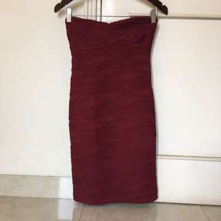 Maroon Tube Dress