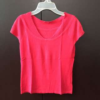 Stretch Red Blouse