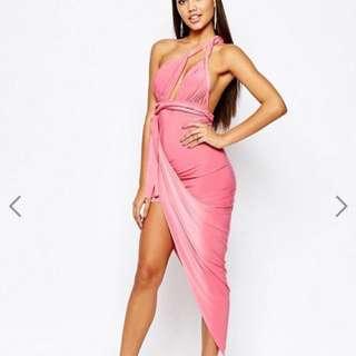 Asos Multiway Dress With Asymmetric Skirt