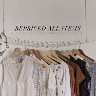 Repriced; New Items Soon!