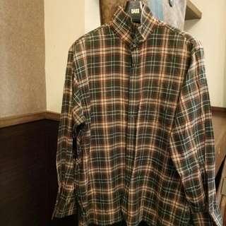 DAKS綠格子襯衫