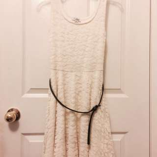 White Lace Guess Dress Size Small