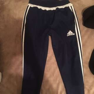 Blue And White Adidas Track Pants