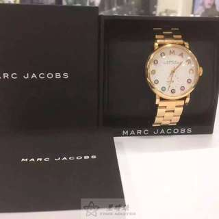 🚚 原裝正貨MARC  JACOBS時尚女表,品味時尚的最佳選擇,錶盤是由彩色晶鑽+MARC字母時標設計,6點鐘方向小秒鐘設計,玫瑰金錶盤錶帶 #我有手錶要賣
