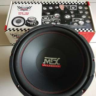 "MTX - CTX-162 6.5 COAXIAL SPEAKER MTX- ROAD THUNDER RT12-44 12"" DUAL  IMPORT SET"