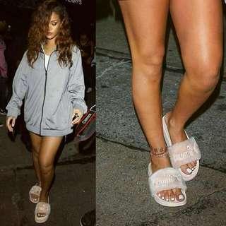 Puma × Fenty Fur Slides by Rihanna Grey size 6 (25 cm), Red size 8 (30 cm) & Shell Pink size 6 (25 cm)