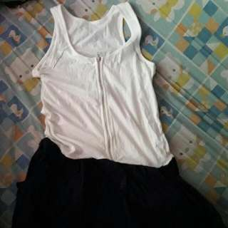 Dress (White Top And Navy Blue Bottom)