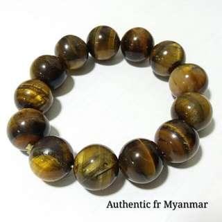 Tiger's Eye 16mm × 13 beads Stretchable Bracelet