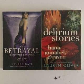 Signed Books - Lauren Kate & Lauren Oliver