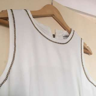 White Dress With Gold Trimming