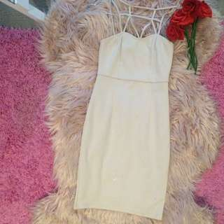3 For $10 Out Bodycon Dress In Beige