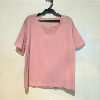 Salmon Pink Blouse