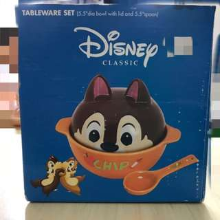 "Disney Tableware Set (5.5""dia bowl with lid and 5.5""spoon)"