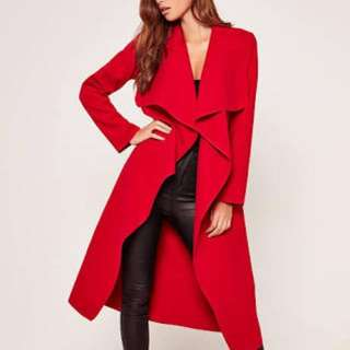 Red Duster Coat Waterfall Jacket. $80 ONO