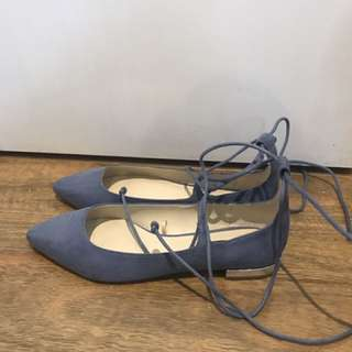 Zara Lace up Flats